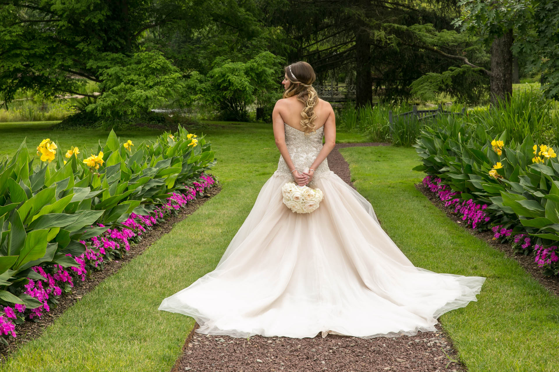 bride nj garden photos