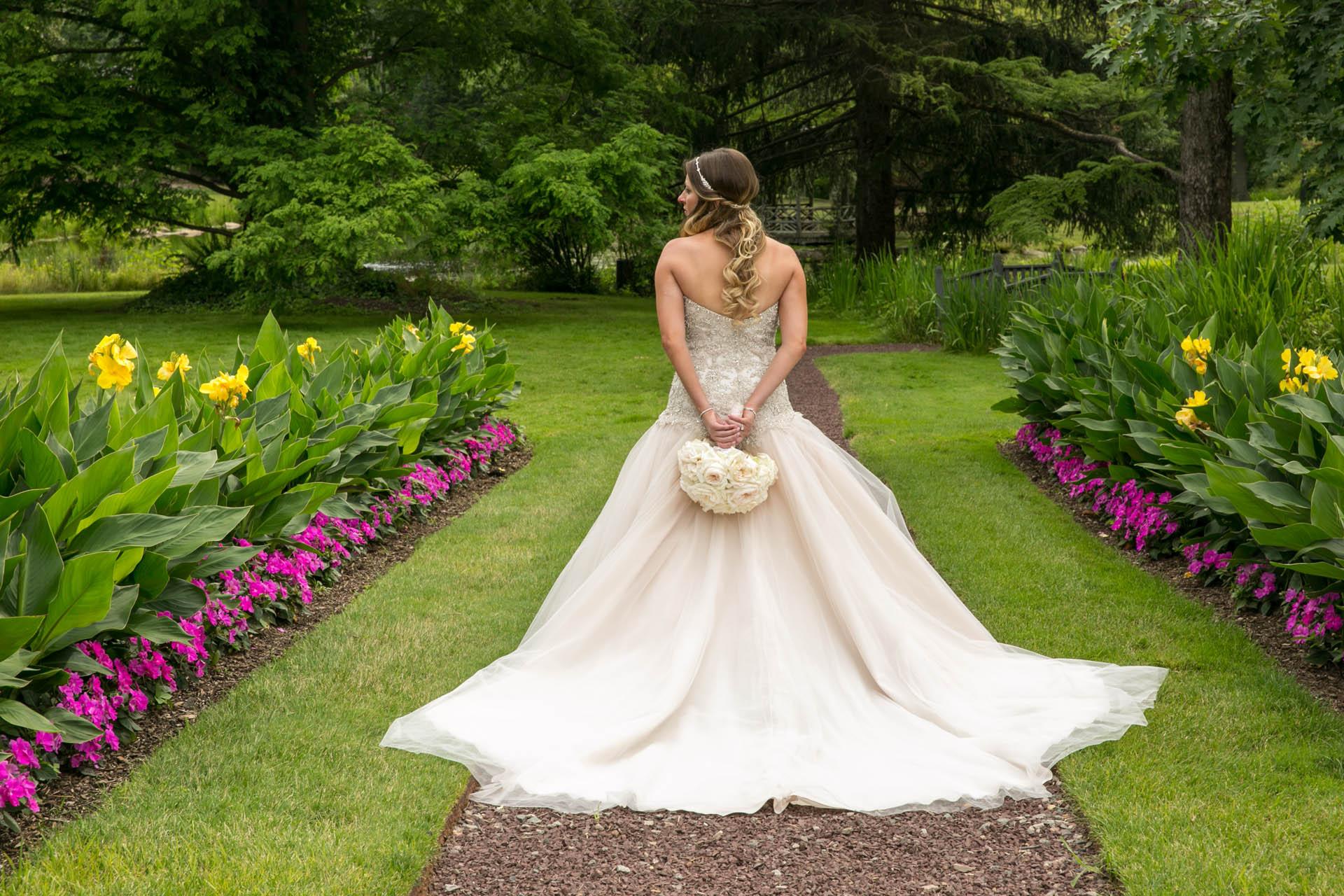 bride nj garden photos